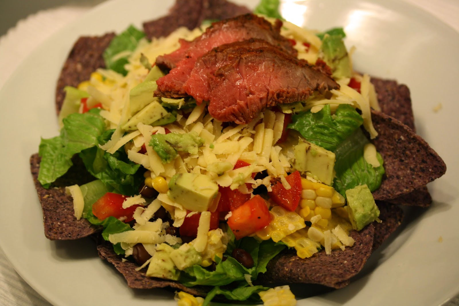 taco salad inspired by greens chocolate makes 2 gigantic salads