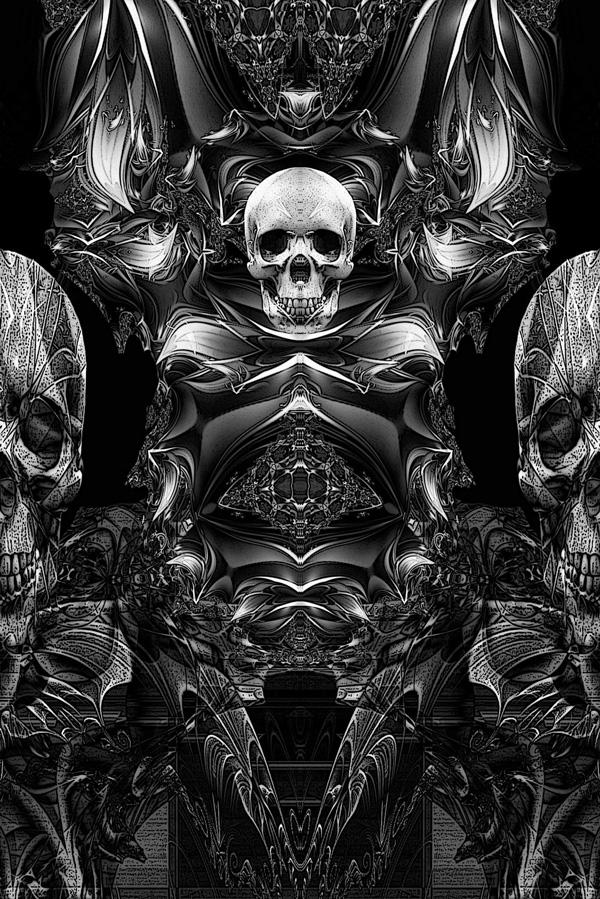 Trippy Dark Psychedelic Art