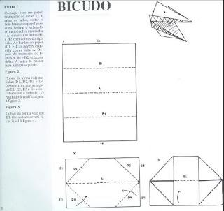 Origami - Dobraduras de papel machê. Bicudo.
