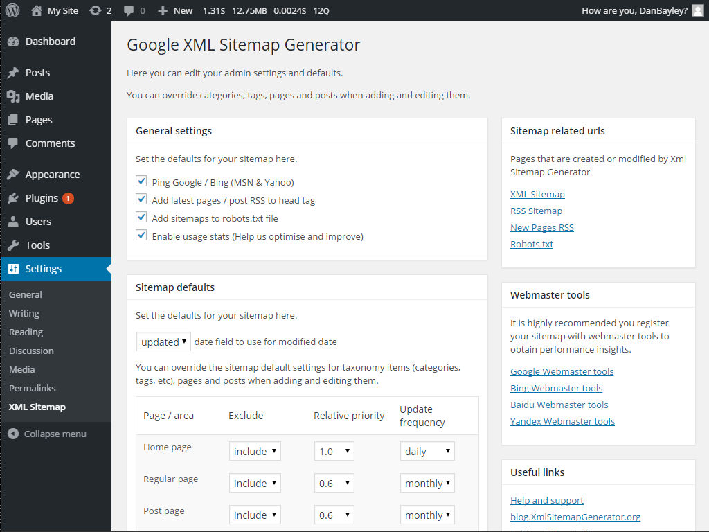 xml sitemap generator wordpress xml sitemap generator