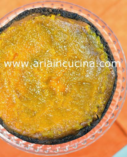 Blog di cucina di Aria: Cheesecake al cioccolato bianco con salsa di zucca speziata