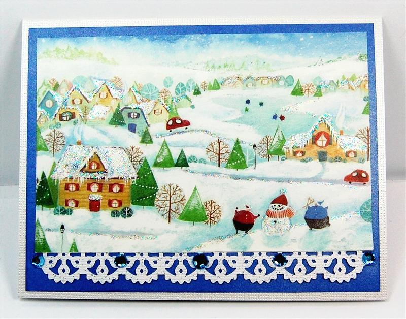 Capadia Designs: Junk Mail Christmas Card Upcycle