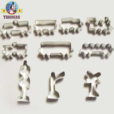 Children biscuit 10 piece kids locomotive train cookie cutters set many different outline stencils