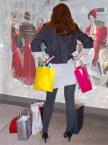 De compras el día de la mujer
