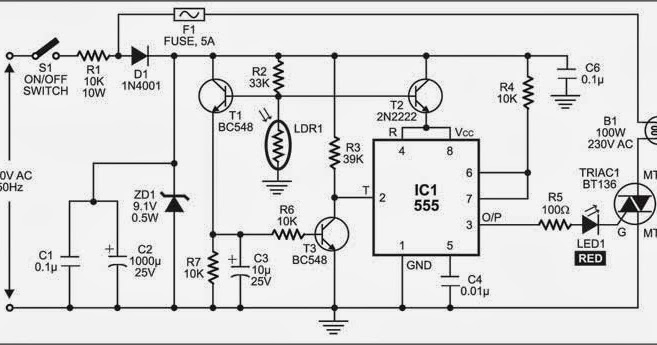 wiring  u0026 diagram info  electronic street light switch circuit digram