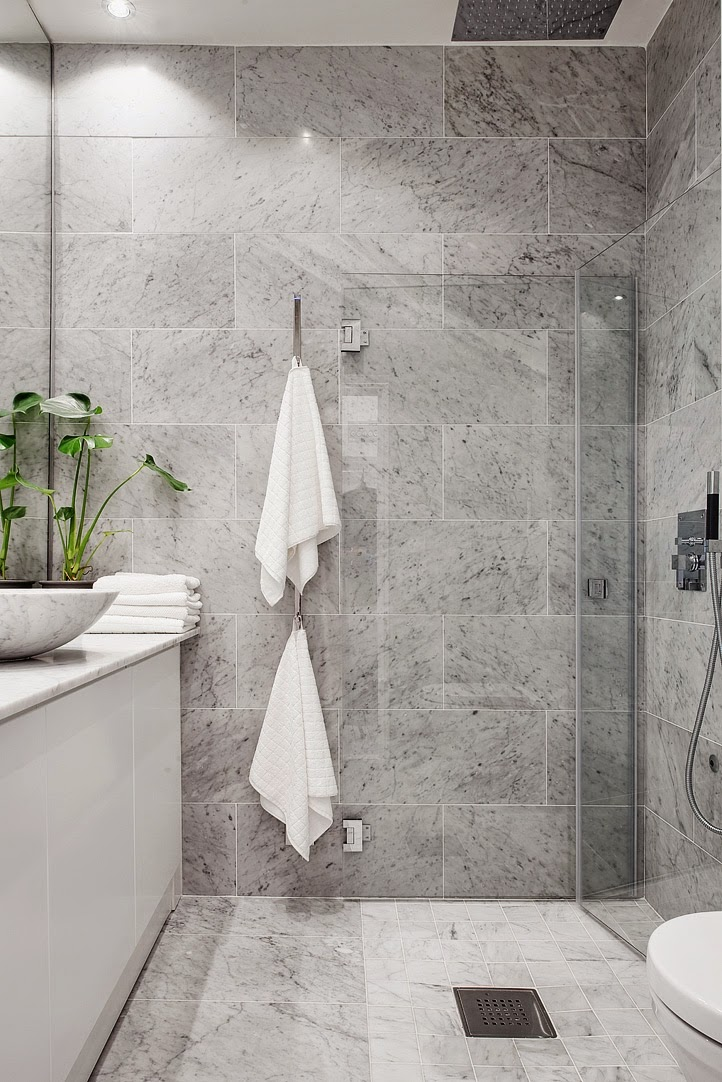Scandinavian interior design, Scandinavian bathroom, marble, aloveforgrey blog