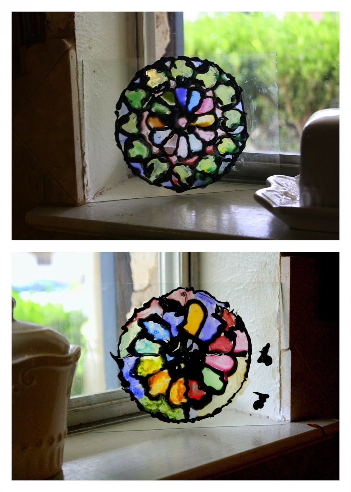 Having fun at home stained glass kids medieval project for Projects with glass