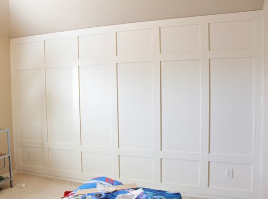 Someday crafts paneled wall and molding party What to do with paneled walls