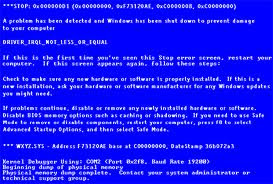 laptop blue screen terus
