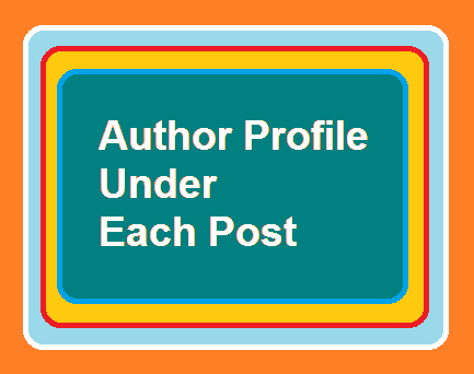 How to display Author profile or Author Bio under each blog post