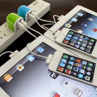 DN-82879 iphone ipad 充電 同時 USB ACアダプター AC 変換 ケーブル