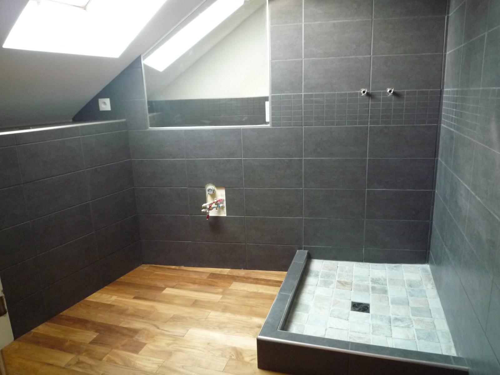 Salle de bain teck et ardoise xz23 jornalagora - Salle de bain en ardoise ...