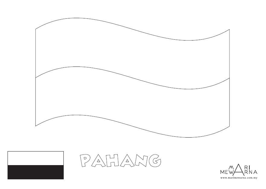 Mari Mewarna Bendera Negeri Pahang