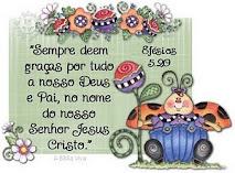 Obrigada meu Senhor!