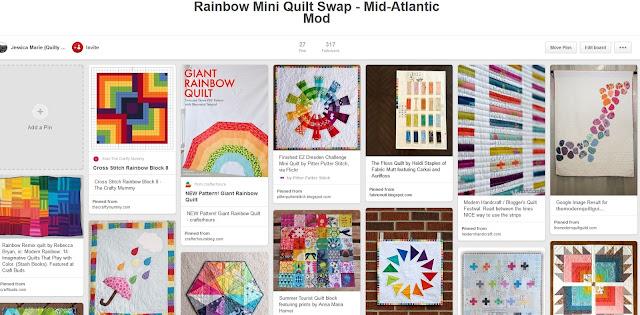 https://www.pinterest.com/quiltyhabit/rainbow-mini-quilt-swap-mid-atlantic-mod/