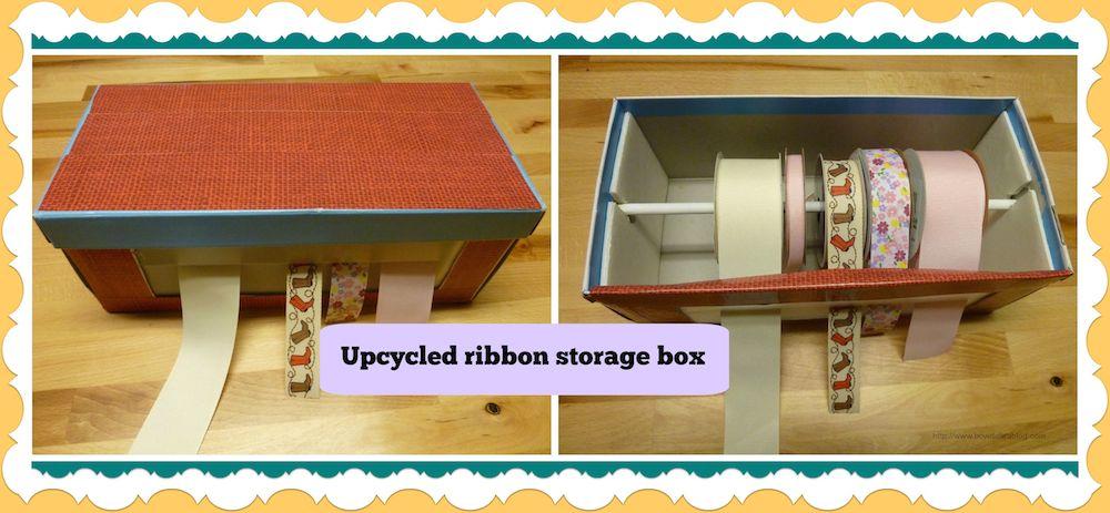 Ribbon storage box  sc 1 st  Make it easy crafts & Make it easy crafts: Ribbon storage box tutorial