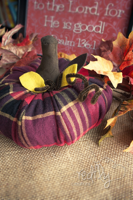 Turn an Old Flannel Shirt into a Pumpkin!