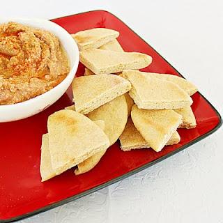 Roasted vegetable dip and pita chips   Roxanashomebaking.com
