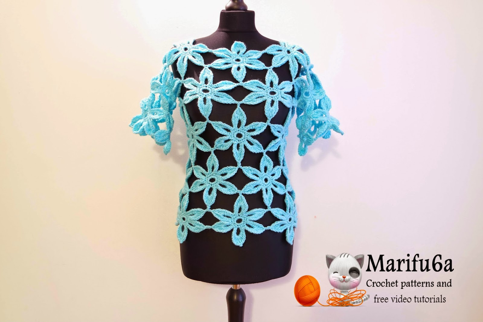 Free crochet patterns and video tutorials: How to crochet flower ...