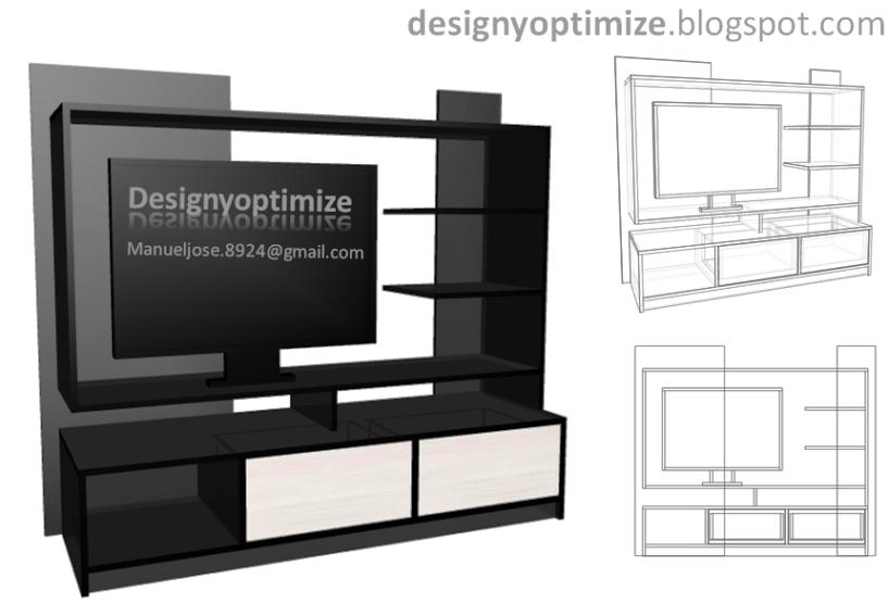 Como hacer un mueble para tv de tablaroca for Software para construir muebles
