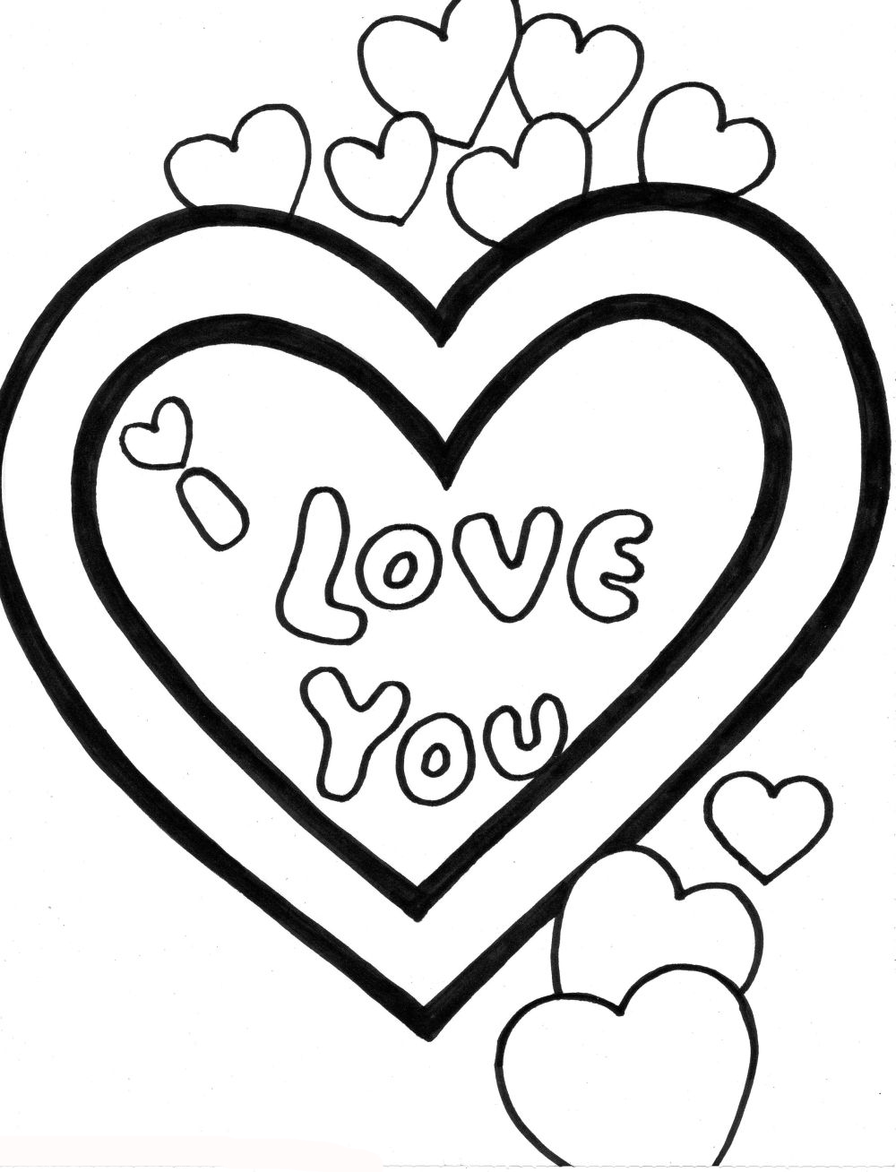 Love Coloring Pages Ideas Be My Valentine