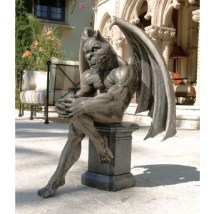 Beau Socrates The Thinker Gargoyle Statue