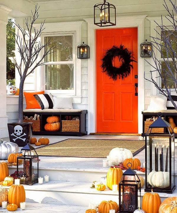 15 Halloween Porch Decor Ideas - I Dig Pinterest & Halloween Decorating Ideas Inspiration ~ Best Of Home Design Ideas