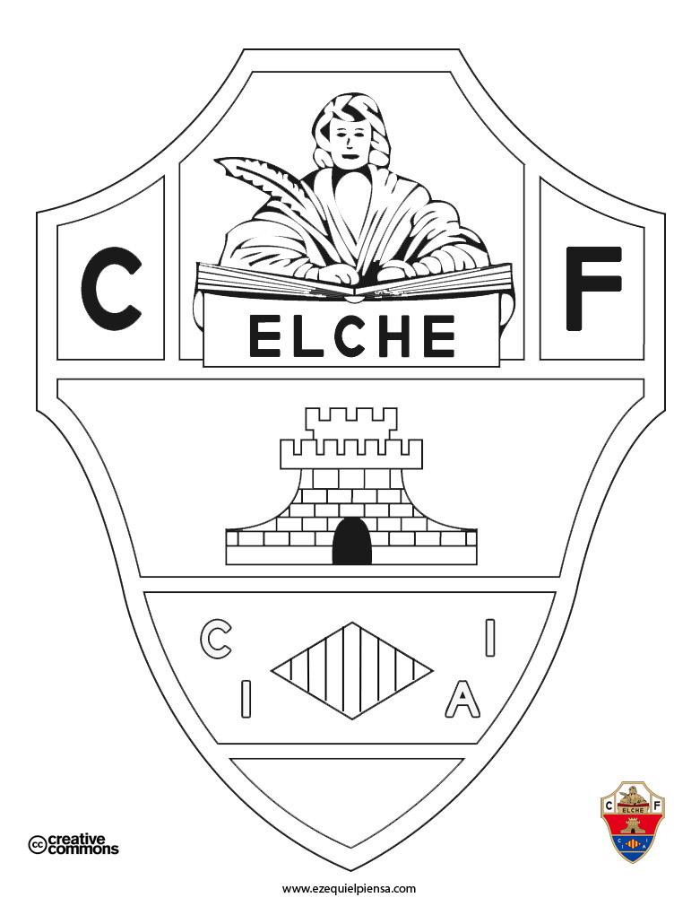 Ezequiel Piensa: Colorear el escudo del Elche CF