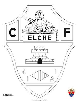 Escudo Elche CF para colorear - ECF - Futbol