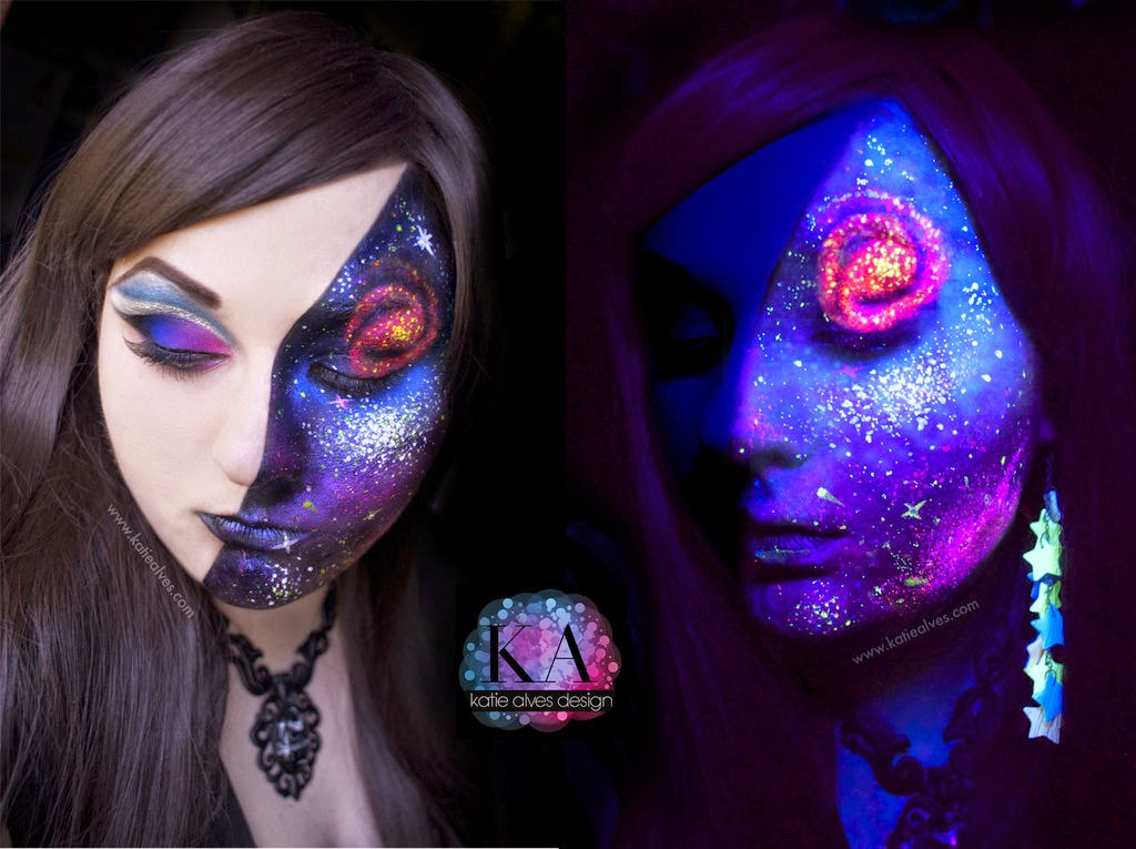 08-Black-Light-Galaxy-Katie-Alves-Makeup Paint Effects-www-designstack-co