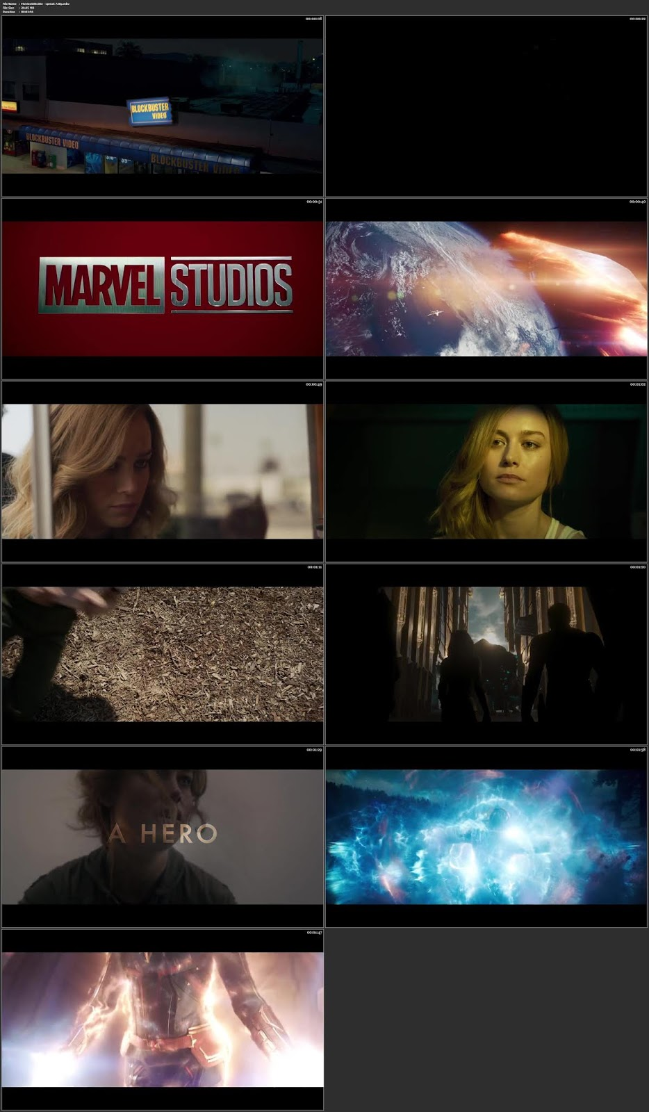 Captain Marvel 2019 Official Trailer Movie HD 1080p Online