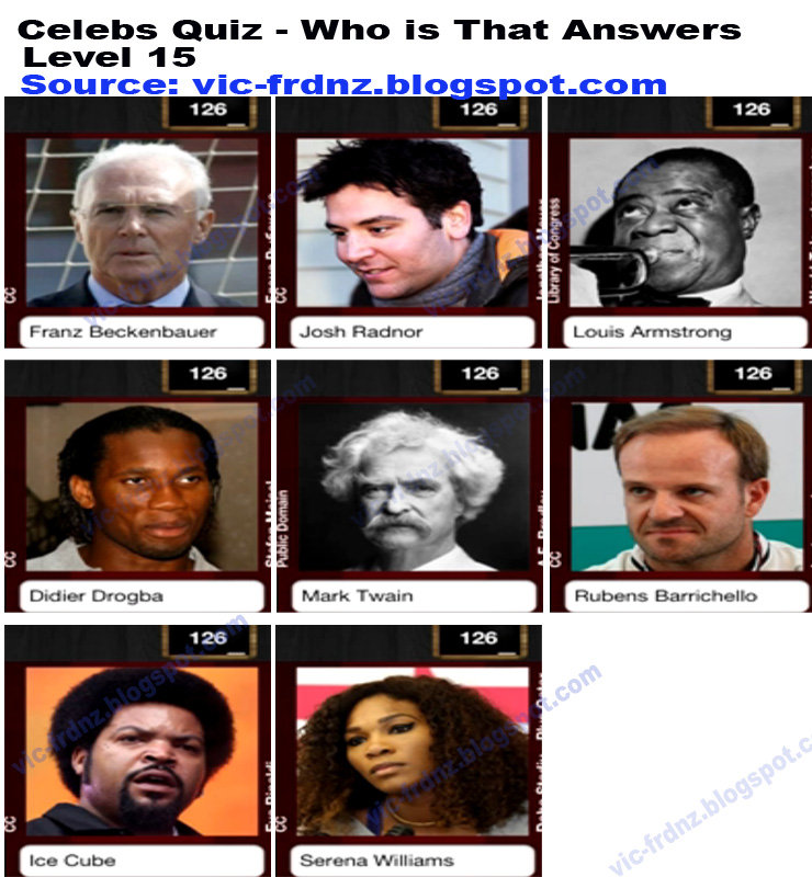 How pass Level 15? - Who Am I? Guess Celebrity Quiz ...