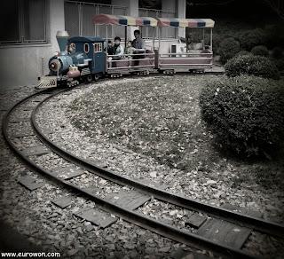 Pequeño tren infantil en Corea