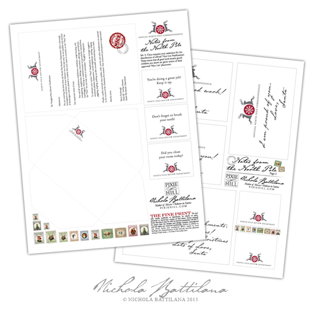Nice List Notification and Notes from the North Pole - Nichola Battilana