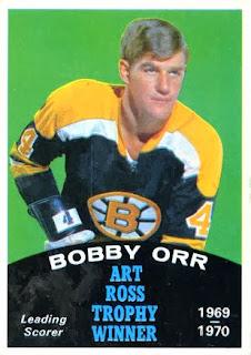 bobby orr boston bruins 1970-71 o-pee-chee art ross trophy
