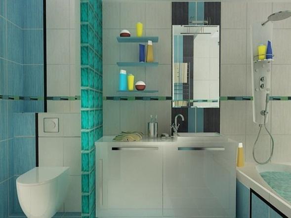 Lavadero De Baño Moderno: de vidrio con diseños estampados que dividen la zona de trabajo y el