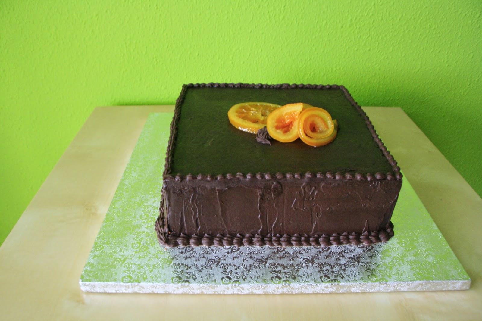 Tarta de xocolata i taronja