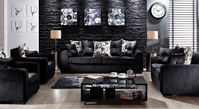 siyah+renkli+%25C3%25B6zel+tasarimli+koltuk+takimi Yeni Yıla Yeni Oturma Grubu Modelleri
