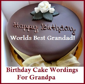 Birthday Cake Wordings Grandfather