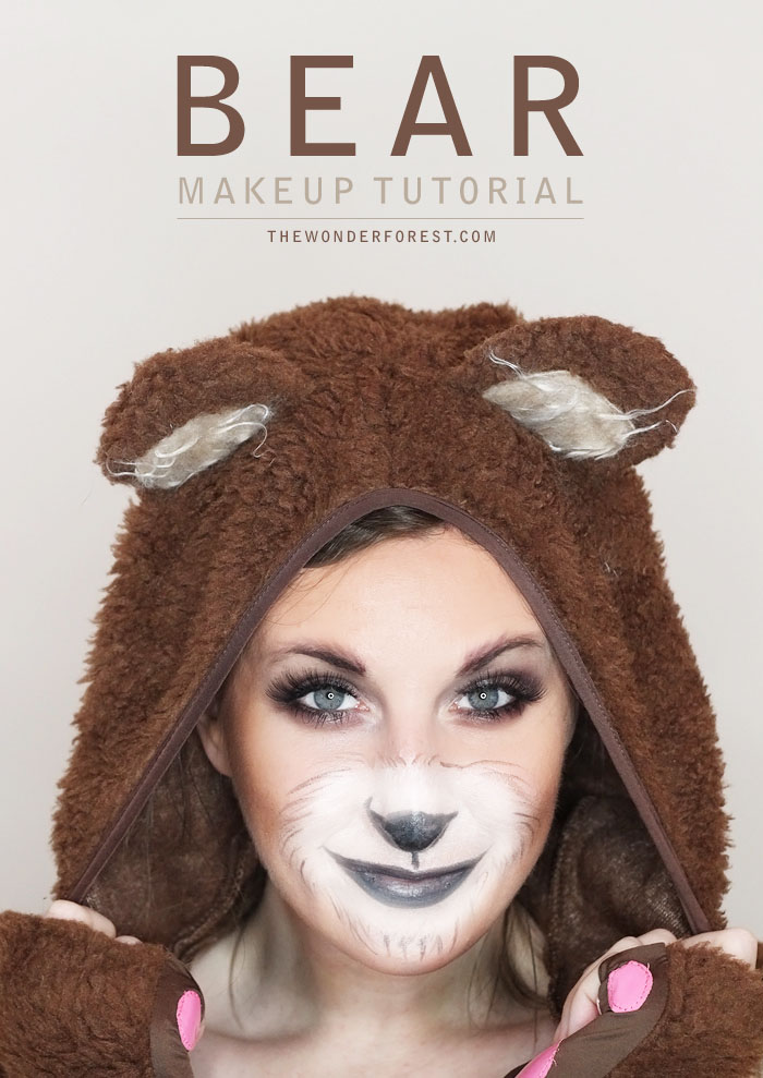Looking for an easy, last-minute costume for Halloween. Say no more. This simple makeup tutorial will help you create a cute bear costume that works for kids or adults.