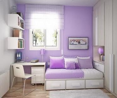 Dormitorio para ni as en color lila decoraci n de interiores for Decoracion de interiores para ninas