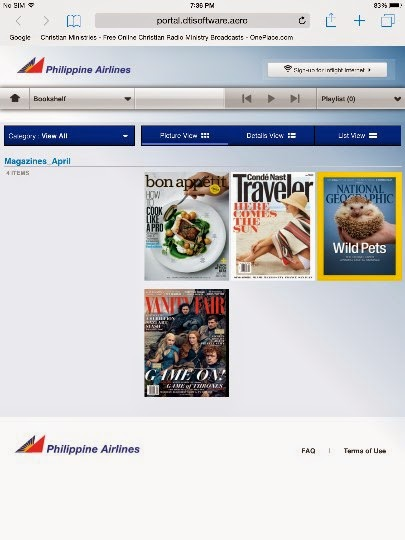 philippine airlines in-flight entertainment