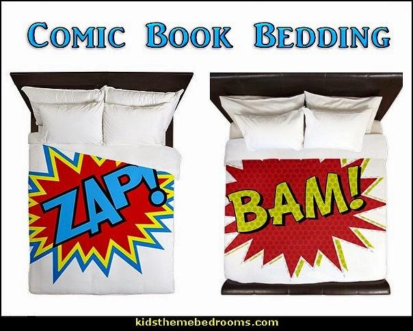 super hero bedding-comic book bedding-superhero theme bedding