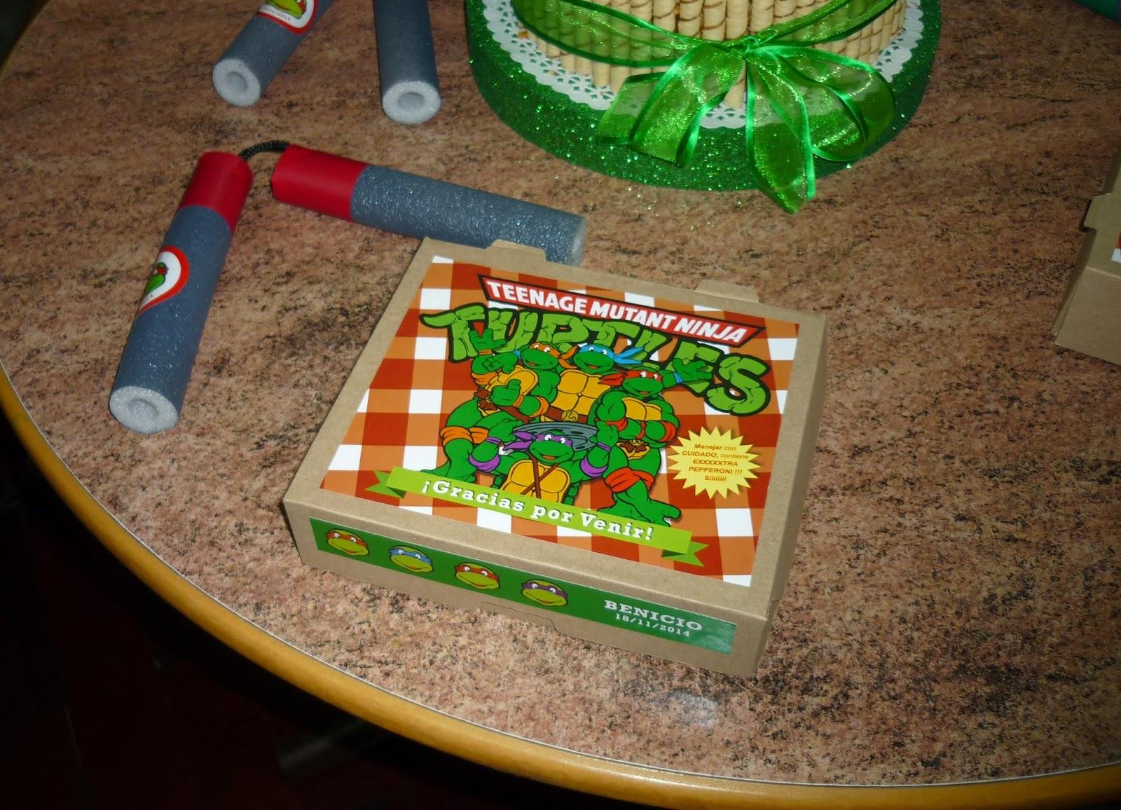 Minimandy. Tortugas Ninja. Papel. Adhesivo. Tarjetita para Souvenir. Golosineros. Candy Bar.