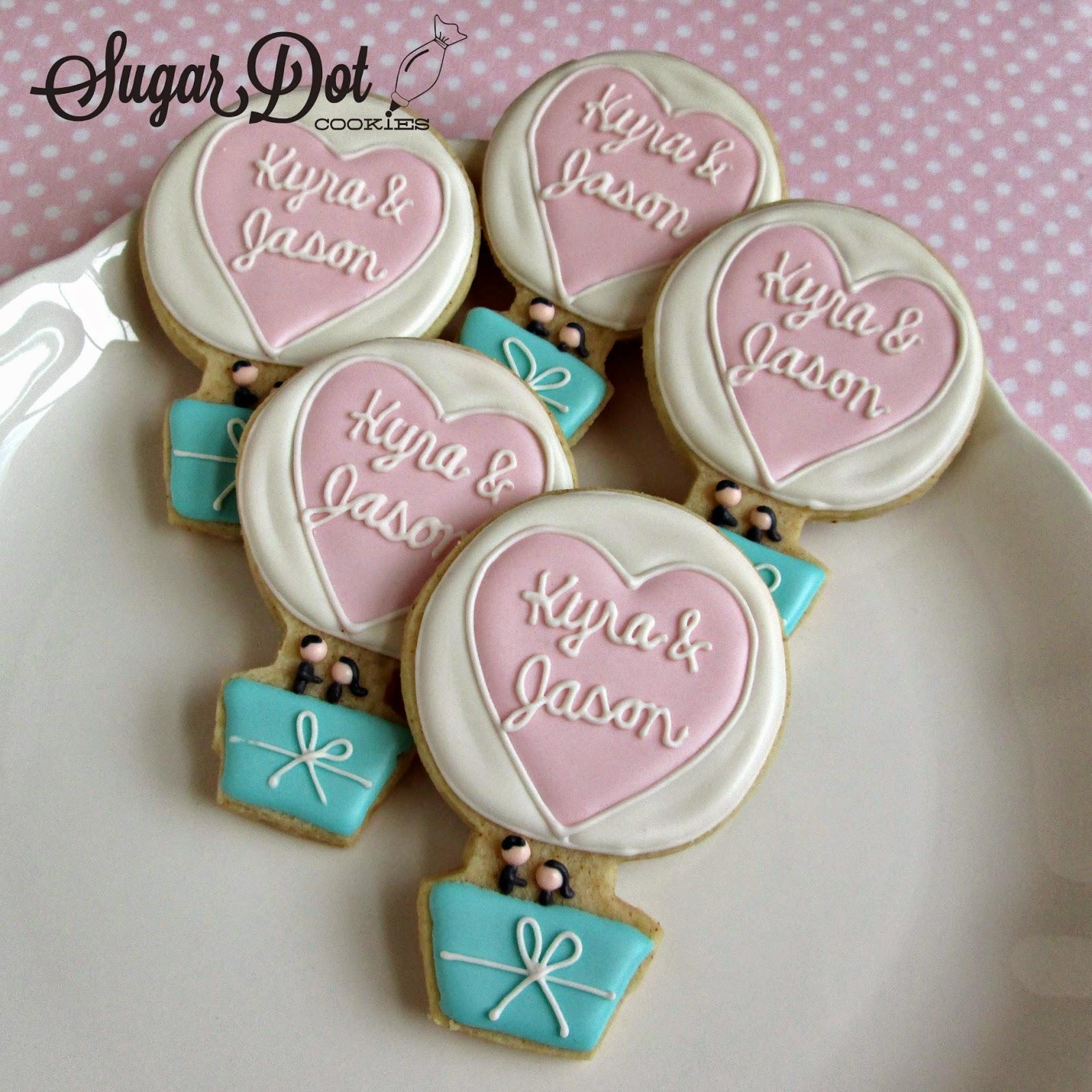 Sugar Dot Cookies: Hot Air Balloon Wedding Cookies