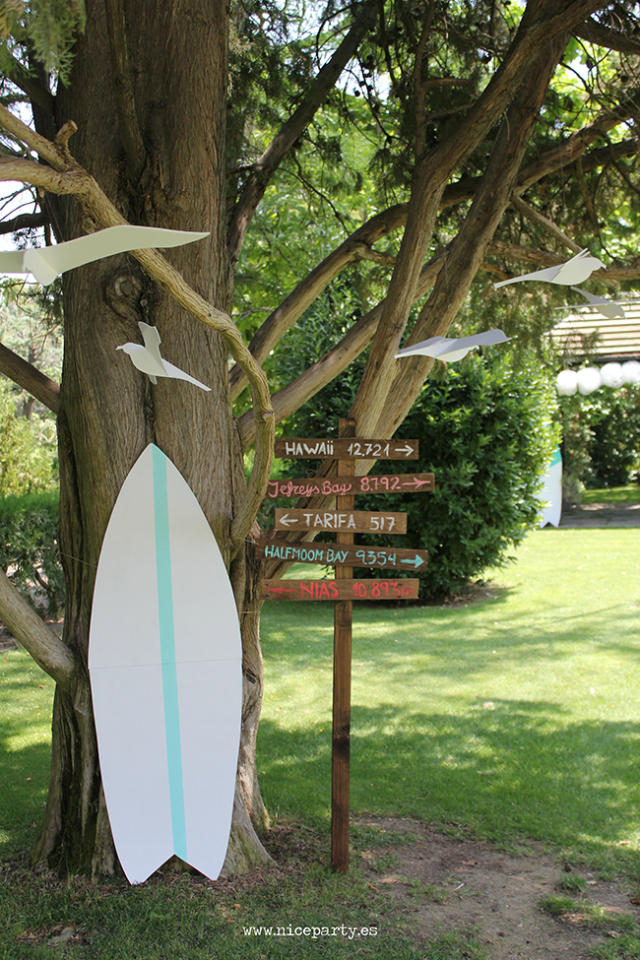 Decoracion Primera Comunion inspiracion Surf - Blog infantil