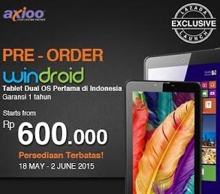 Promo Axioo Windroid Tablet Murah Mulai Rp 600 Ribu