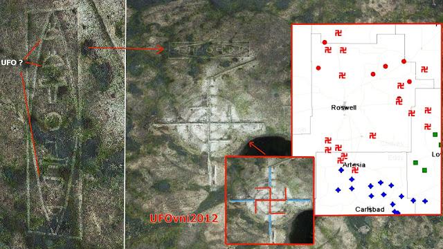 Le Mystère de la GIANT Swastika près de Roswell, Nouveau-Mexique