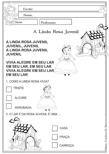 Atividade A Linda Rosa Juvenil