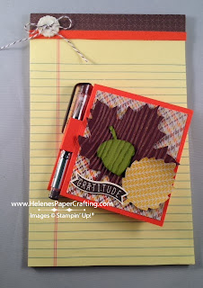Autumn note holder and note pad